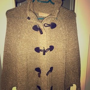 Michael kors knitted sweater poncho